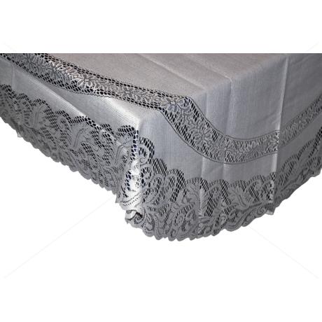 Asztalterítő jacquard csipke ovál 140x180 cm