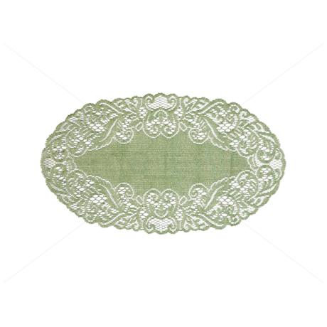 Asztalterítő jacquard csipke ovál 27x50 cm