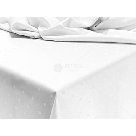 Damaszt ünnepi asztalterítő szennytaszító kikészítéssel 100x140 cm fehér