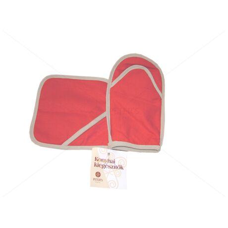 Edényalátét és fogókesztyű szett piros