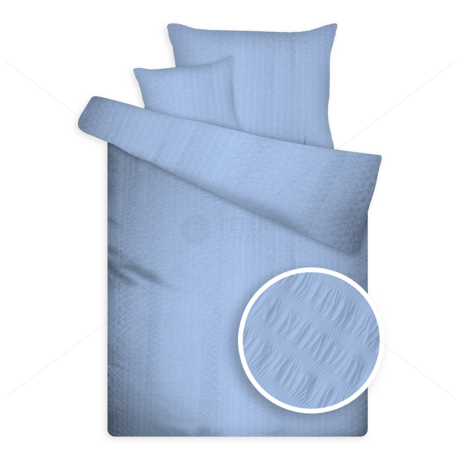 Öko krepp ágynemű kék