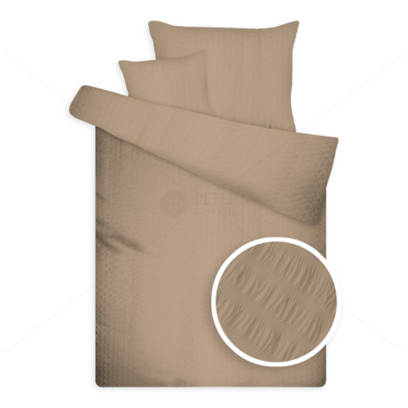 Öko krepp ágynemű barna