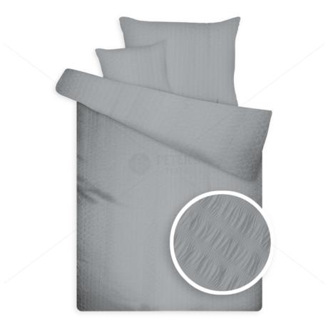 Öko krepp ágynemű szürke
