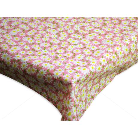 Asztalterítő nyomott mintával 100x140 cm margarétás