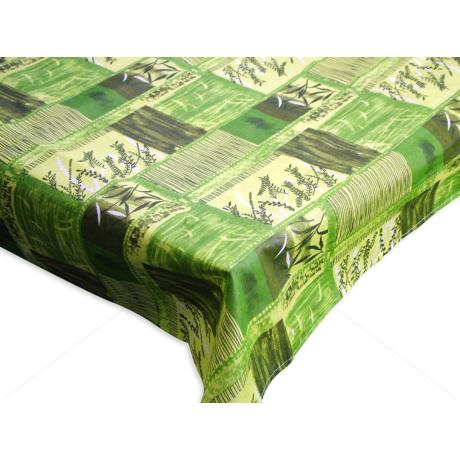 Asztalterítő nyomott mintával 140x140 cm kalászos