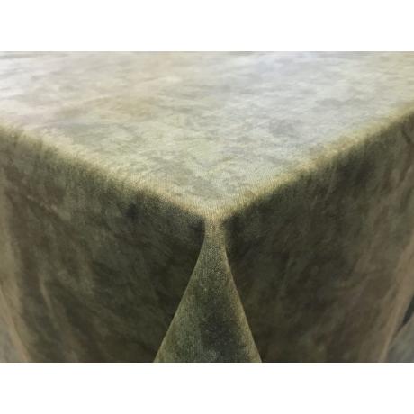 Asztalterítő nyomott mintával 140x140 cm zöld márványos