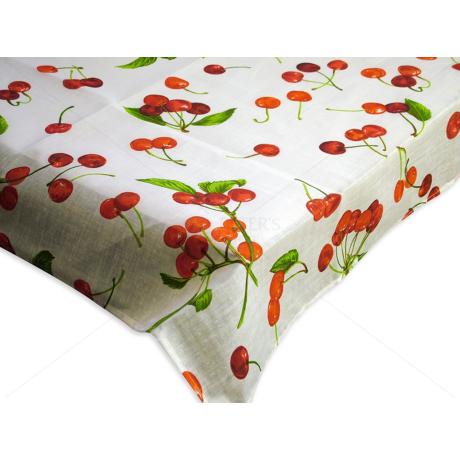 Asztalterítő nyomott mintával 90x90cm cseresznyés
