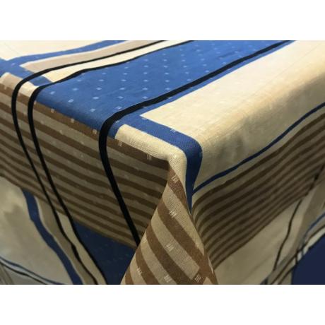 Asztalterítő nyomott mintával 140x200 cm kék rácsos