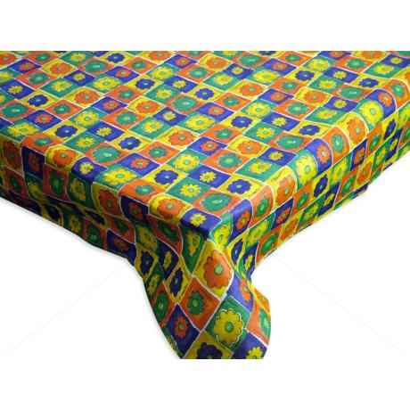 Asztalterítő nyomott mintával 140x180 cm virágos