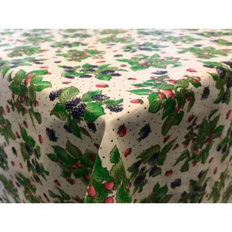 Asztalterítő nyomott mintával 140x140 cm fehér szedres