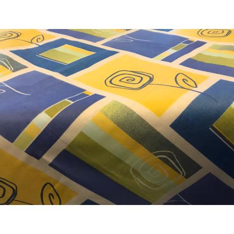Asztalterítő napron nyomott mintával 70x70cm kék kockás