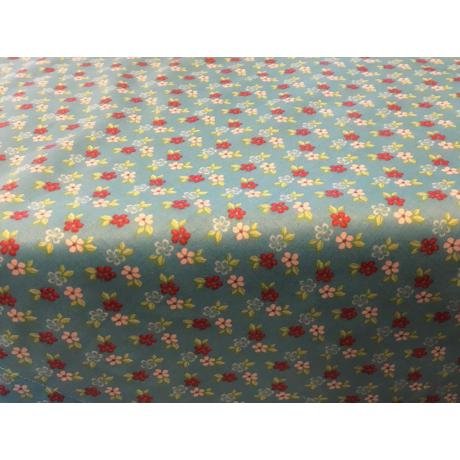 Asztalterítő napron nyomott mintával 70x70cm kék apró virágos