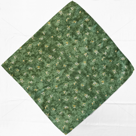 Asztalterítő napron nyomott mintával 60x60cm márvány virágos zöld
