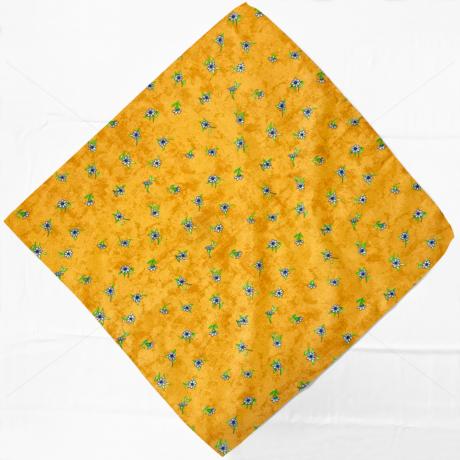 Asztalterítő napron nyomott mintával 60x60cm márvány virágos sárga