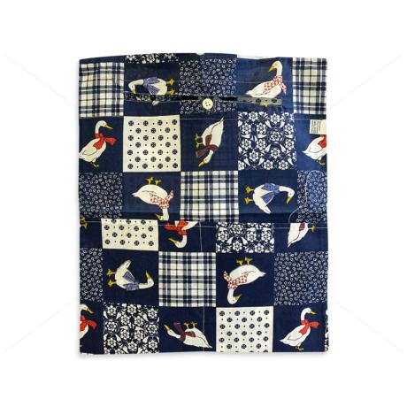 Óvodai ruhazsák 37x46cm patchwork libás sötét kék 1