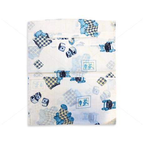 Óvodai ruhazsák 37x46cm székes takarós maci krém