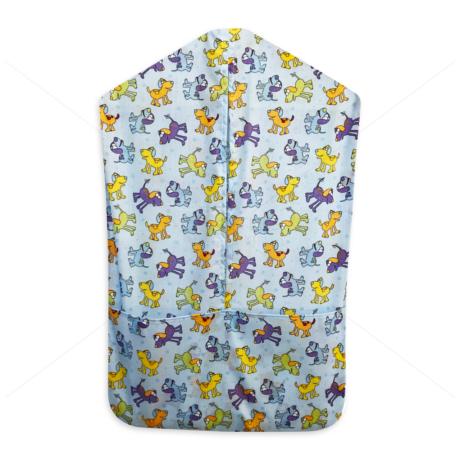 Óvodai vállfás ruhazsák 1090 blue
