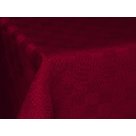Polly asztalterítő kockás bordó 140x180cm