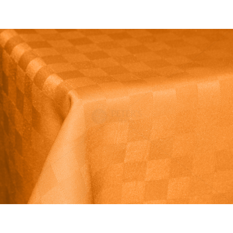 Polly asztalterítő kockás narancs 140x220cm
