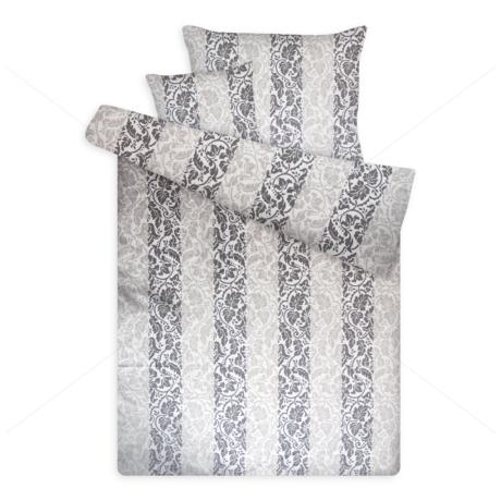 pamut szatén ágynemű barokkos 1097 grey
