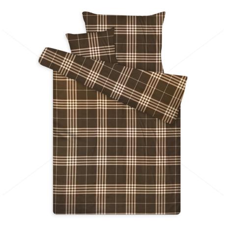 pamut szatén ágynemű kockás sateen 2 brown