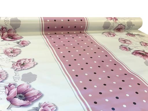 Viaszos vászon Firenze pünkösdi rózsa 9056