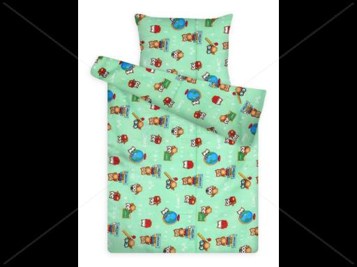 Gyerek ágynemű huzat garnitúra pc 1081 green bagoly