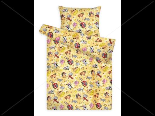 Gyerek ágynemű huzat garnitúra pc 880 yellow farmos