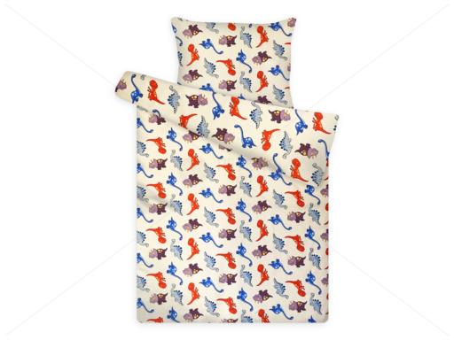 Gyerek ágynemű huzat garnitúra pc 1120 cream dinó