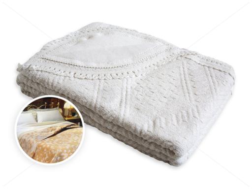 Romantica ágytakaró 150x240 cm fehér