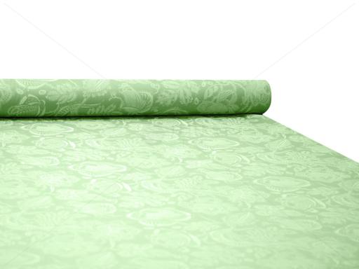 MÓNI selyemangin - zöld csipkenyomott