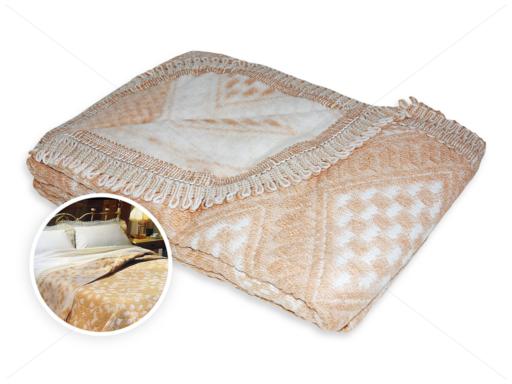 Romantica ágytakaró 150x240 cm drapp-fehér