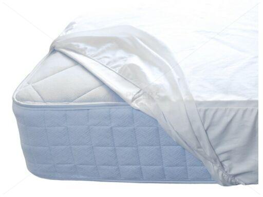 Frottír felületű matracvédő lepedő, poliuretán impregnálással