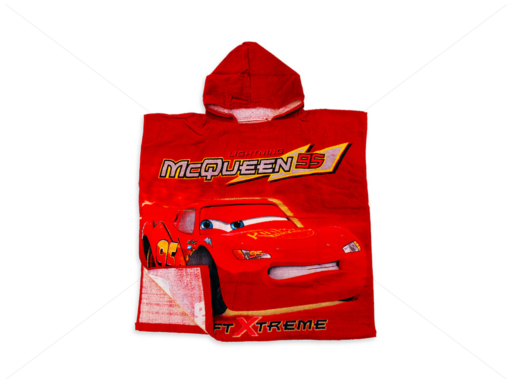 Disney kapucnis poncsó 60x120 cm Cars red