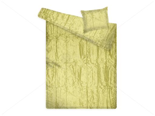 Kaméleon taft ágytakaró díszpárnával 140x220+ 45x55 cm CREAM