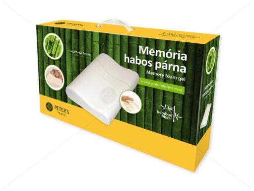 Memória habos anatómiai párna bambuszos huzatban