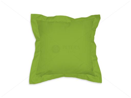 Díszpárna angol széllel cipzáras huzattal 35x35 cm AL71 zöld