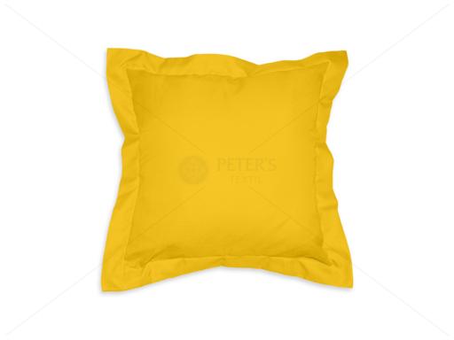 Díszpárna angol széllel cipzáras huzattal 35x35 cm AL62 sárga