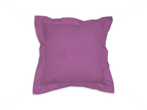 Díszpárna angol széllel cipzáras huzattal 35x35 cm AL75 világos lila