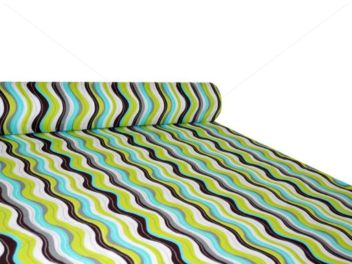 Nyomott mintás pamut-poliészter méteráru - 1086 brown