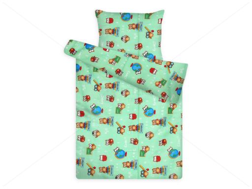 gyerek ágynemű huzat 1081 green bagoly