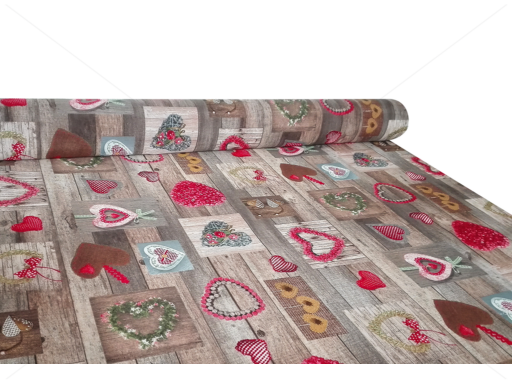 Karácsonyi méteráru 140 cm vintage